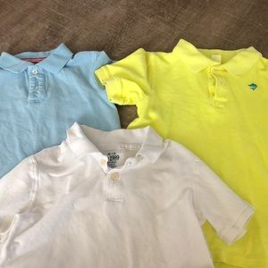 Other - Three polo shirts.  Boy's size 7. Assorted brands.